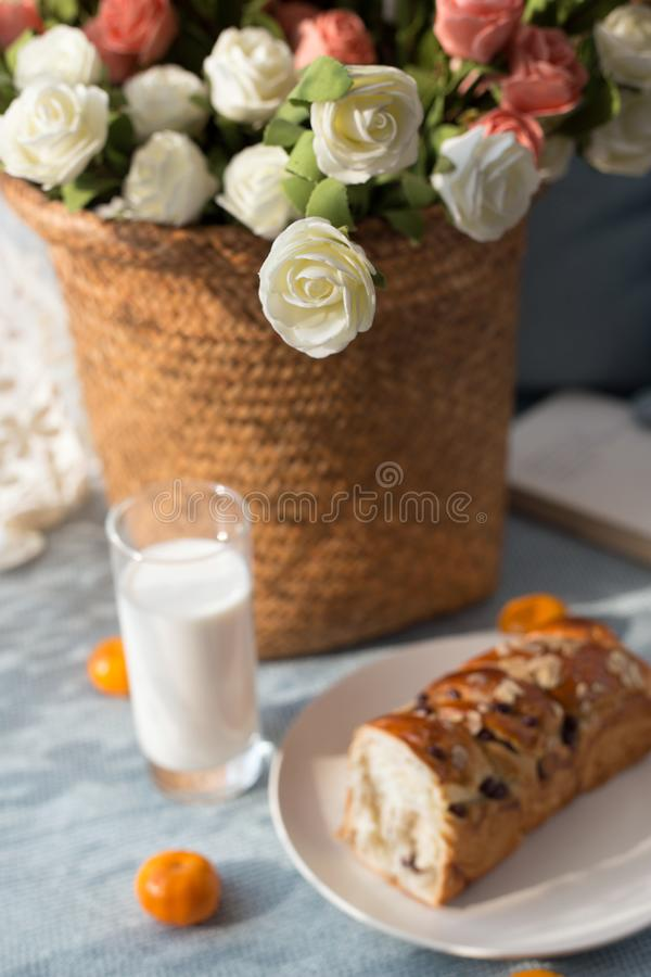 Big breakfast. A good day begins with a hearty breakfast royalty free stock images