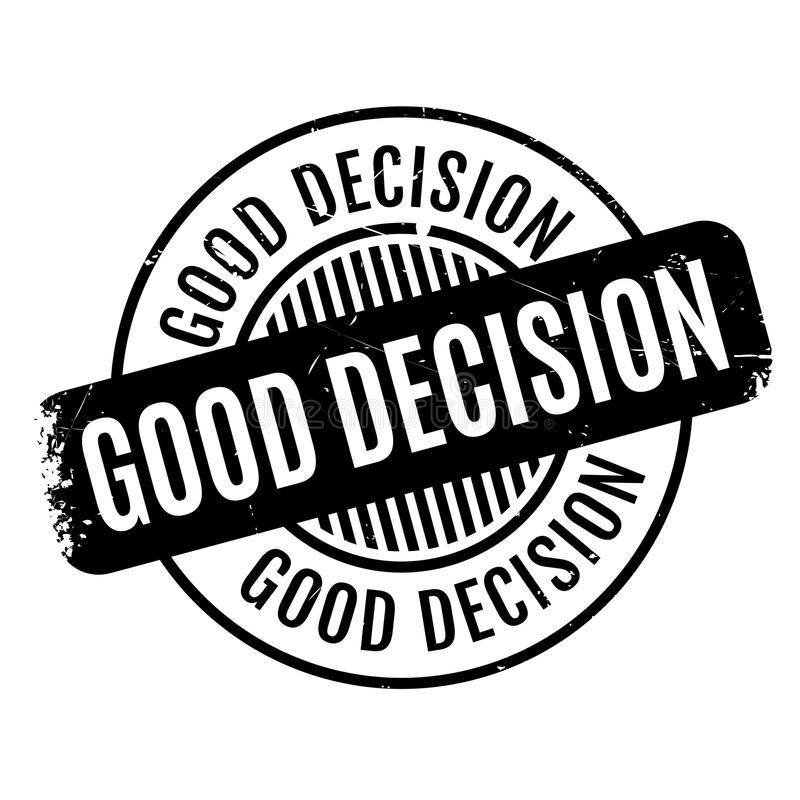 Good Decision rubber stamp royalty free illustration
