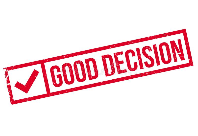 Good Decision rubber stamp stock illustration