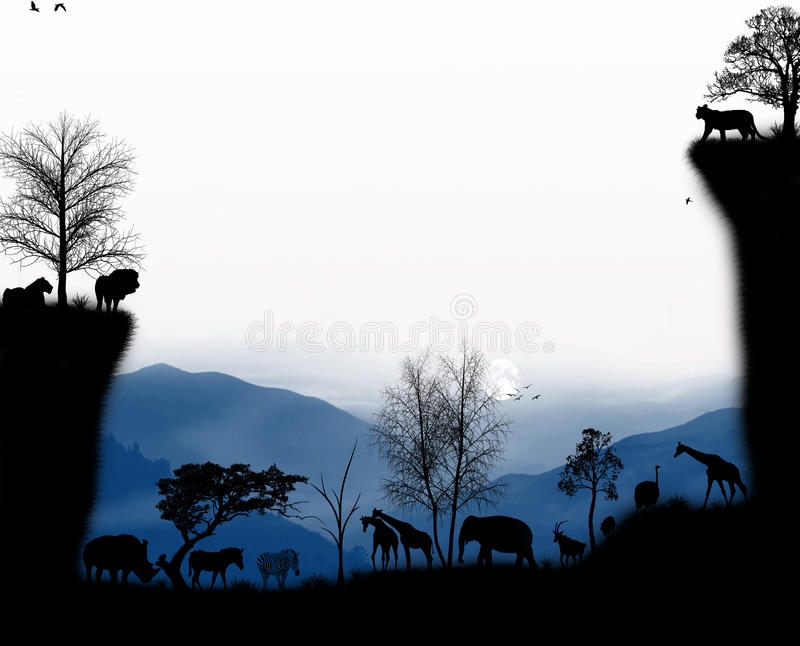 Good Evening Animals from Africa royalty free stock image