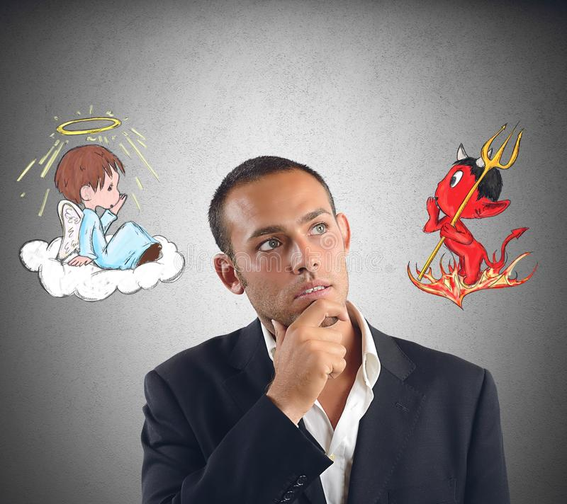 Good and evil royalty free stock photography