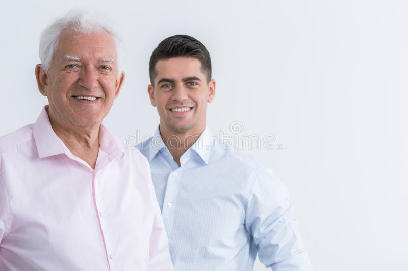 Good fathers make good sons royalty free stock photography