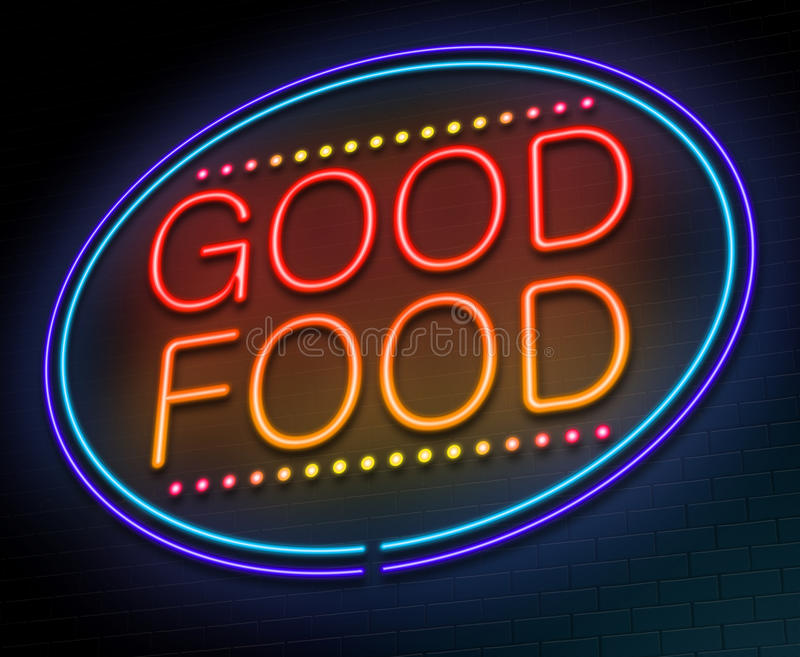 Good food concept. vector illustration