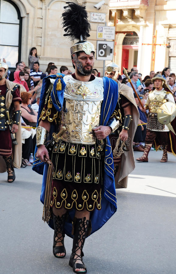Good friday. Procession in Zebbug. In Zebbug is the famous and longest procession in Malta that celebrates the cycle of death and resurrection of Jesus Christ stock images