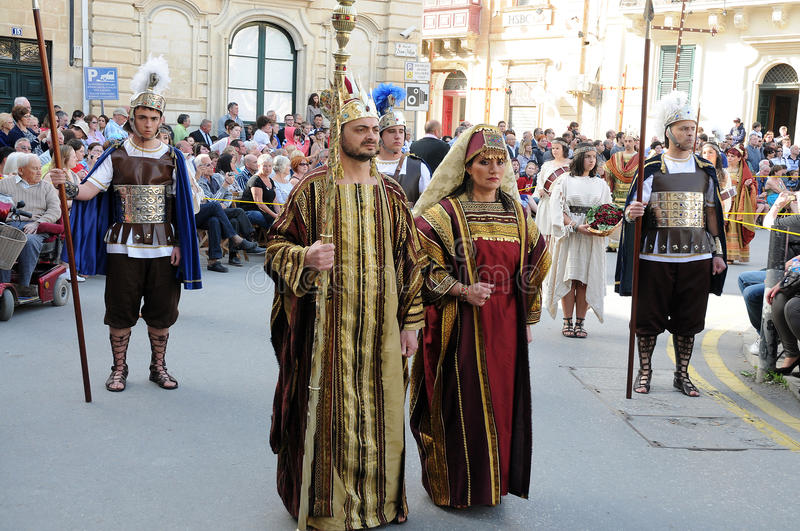 Good friday. Procession in Zebbug. In Zebbug is the famous and longest procession in Malta that celebrates the cycle of death and resurrection of Jesus Christ stock photography
