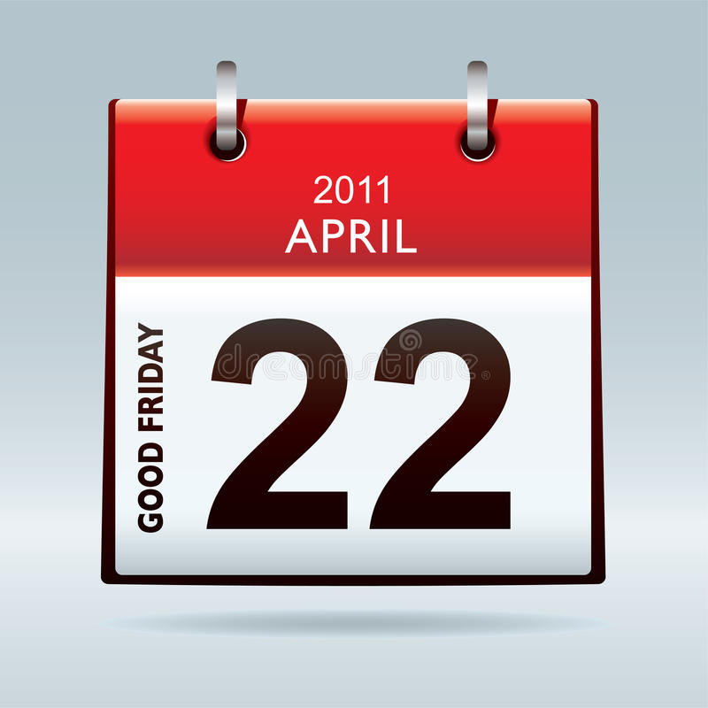 Good Friday Calendar Icon Stock Photography