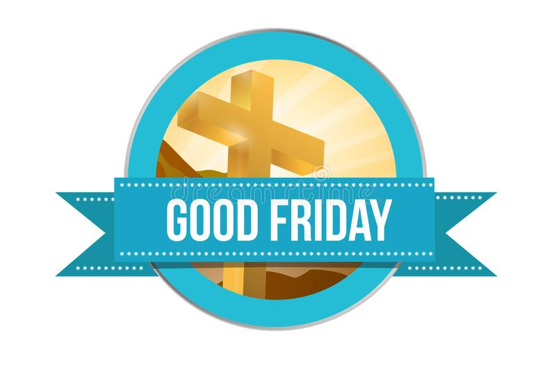 Good Friday day. Religious seal illustration isolated stock image