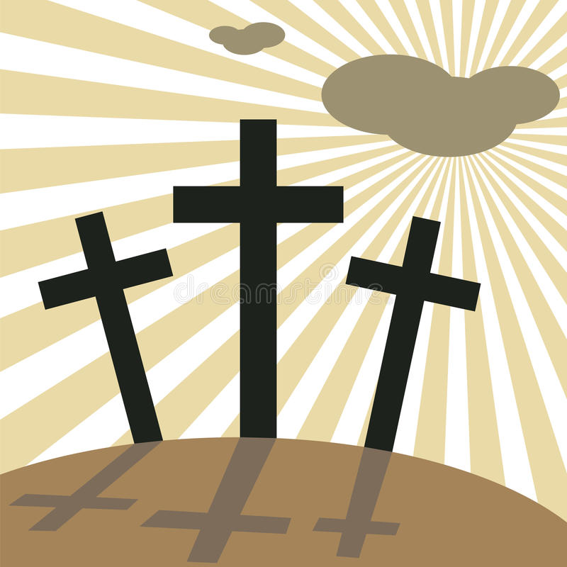 Download Good Friday Easter Day Crosses Stock Vector - Illustration: 23841367
