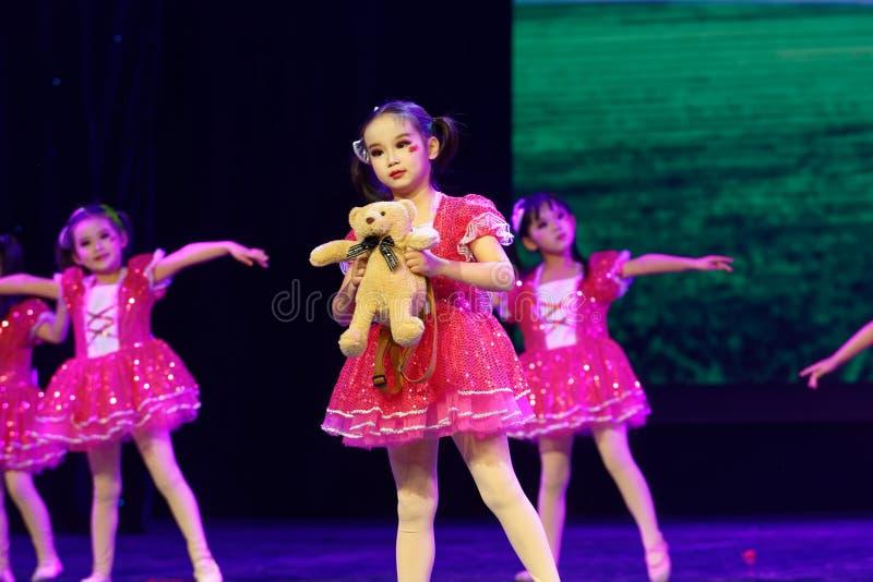 Good friends- Beijing Dance Academy grading test outstanding children`s dance teaching achievement exhibition Jiangxi. Sponsored by the Beijing Dance Academy royalty free stock photography