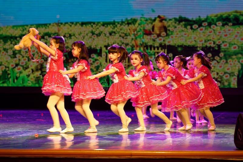 Good friends- Beijing Dance Academy grading test outstanding children`s dance teaching achievement exhibition Jiangxi. Sponsored by the Beijing Dance Academy stock images
