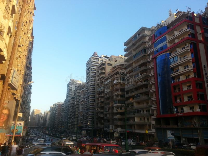 A very more builds. Good and great vuilds in Alex in Egypt stock images