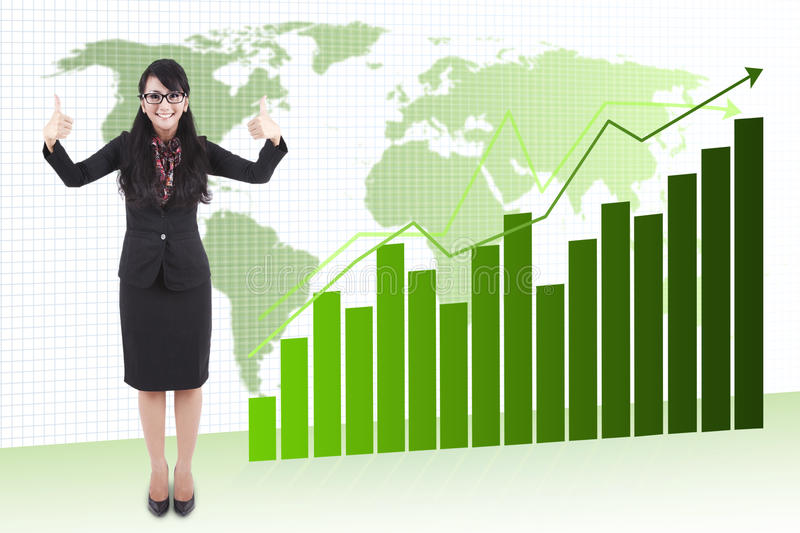 Good growth of global business royalty free stock images