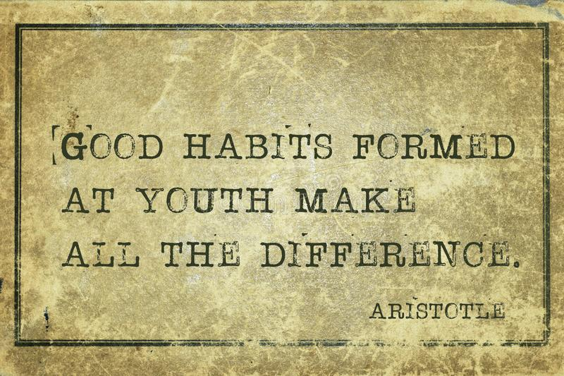 Good habits Aristotle royalty free stock photography