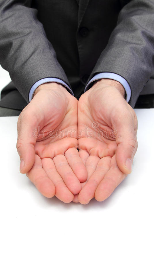 In good hands stock images