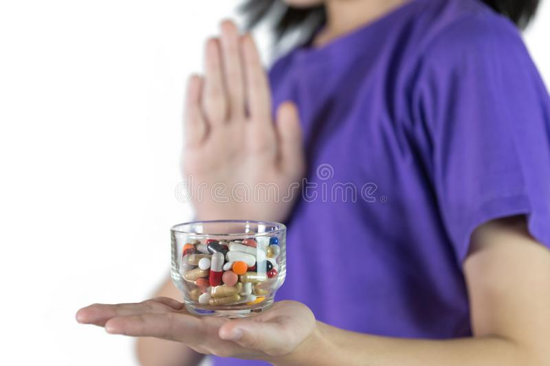 Good health does not rely on medicine,concept of health stock photos