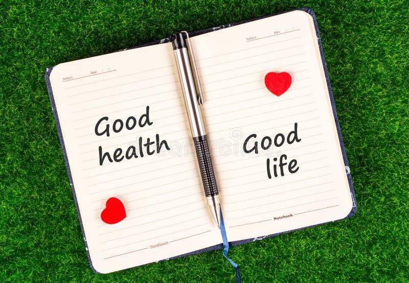 Good health equal good life stock image