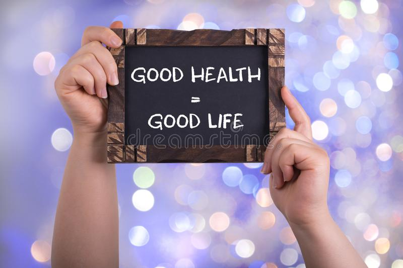 Good health good life royalty free stock photos