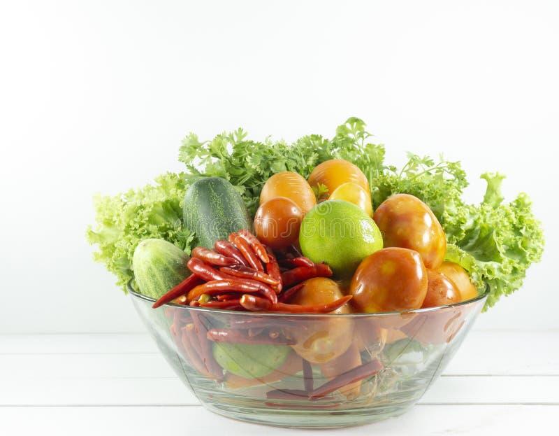 veggies salad, diet, vegetarian, vegan food, vitamin snack,Top view, Copy space for design. royalty free stock images