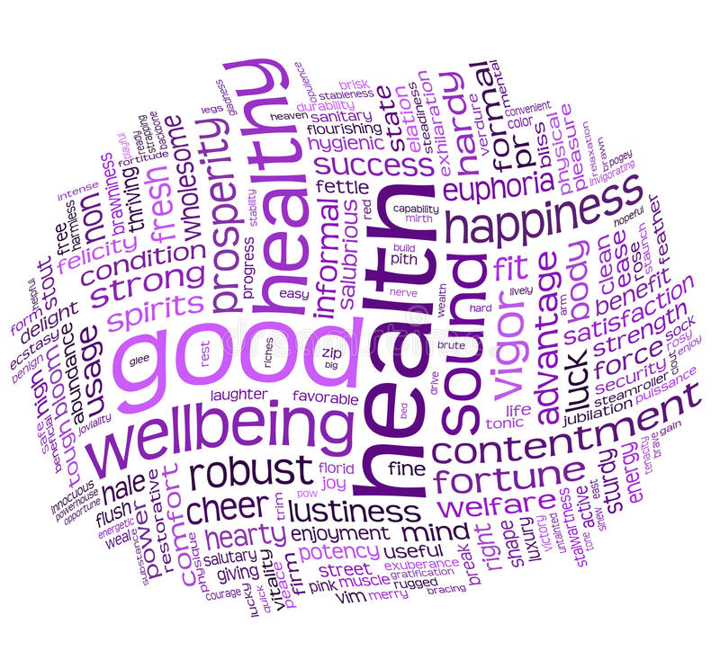 Download Good Health And Wellbeing Tag Cloud Royalty Free Stock Photography - Image: 15571837