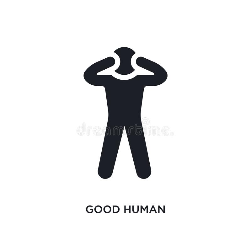 good human isolated icon. simple element illustration from feelings concept icons. good human editable logo sign symbol design on stock illustration
