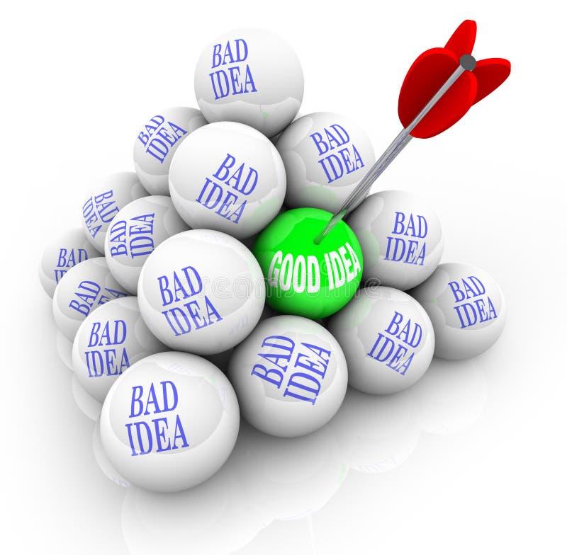 Free Good Idea Vs Bad Ideas - Successful Creativity Royalty Free Stock Photo - 18793405