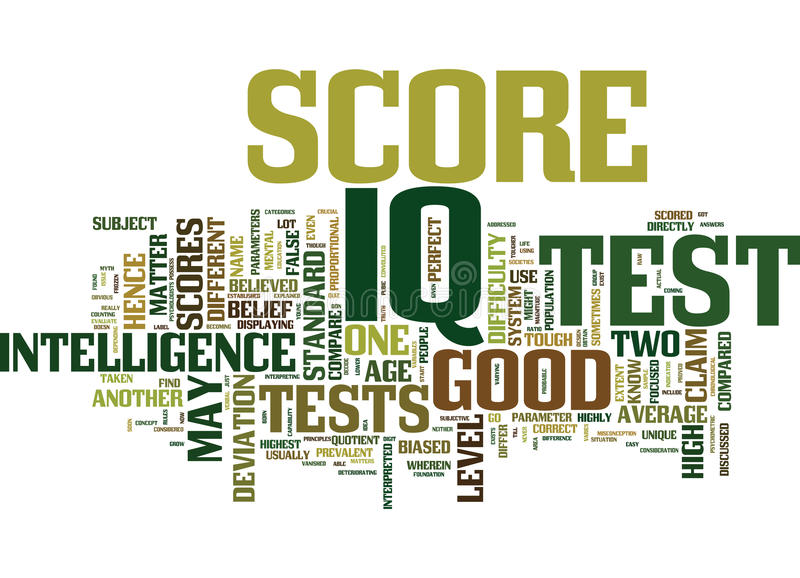 Good Iq Score The Myth And The Truth Word Cloud Concept vector illustration