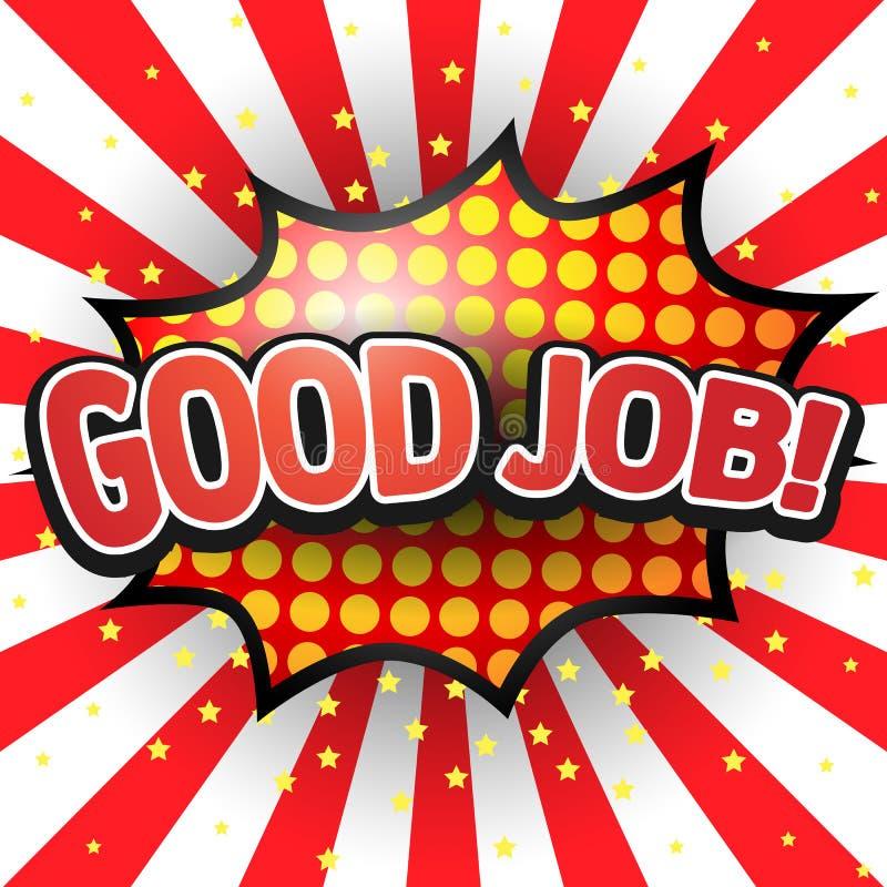 Free Good Job, Comic Speech Bubble. Stock Images - 41065684
