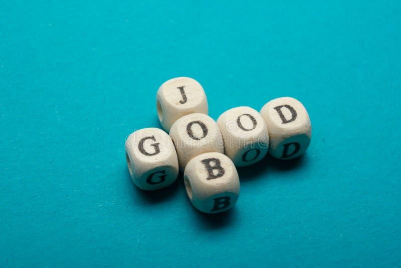 GOOD JOB text on a wooden cubes.  stock photo