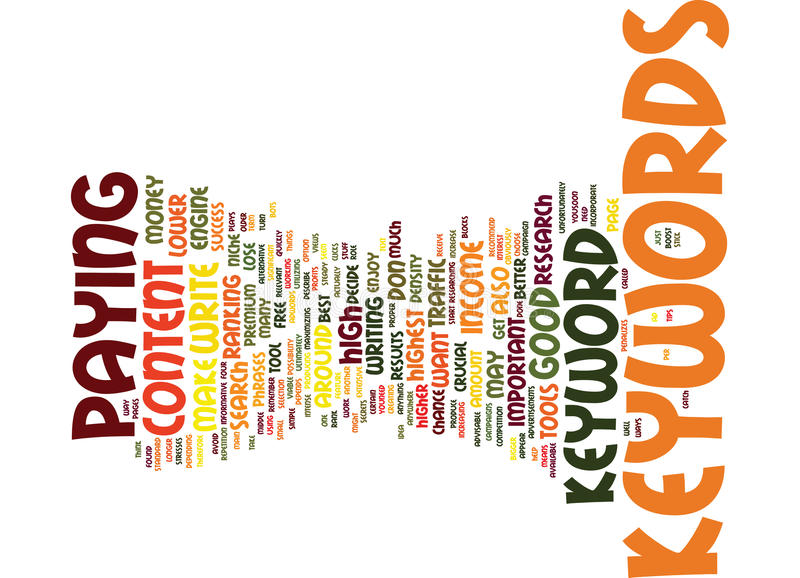Good Keywords Are Crucial To Adsense Success Word Cloud Concept vector illustration