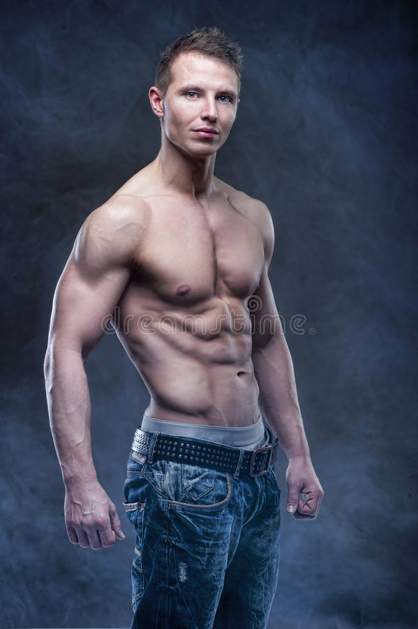 Good looking bodybuilder posing royalty free stock images