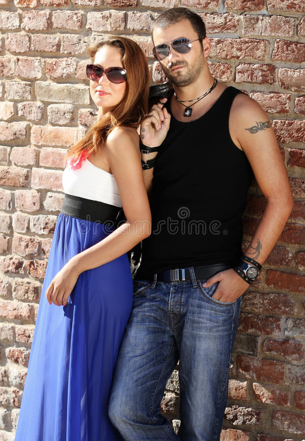 Download Good looking couple stock image. Image of shirt, male - 26351841