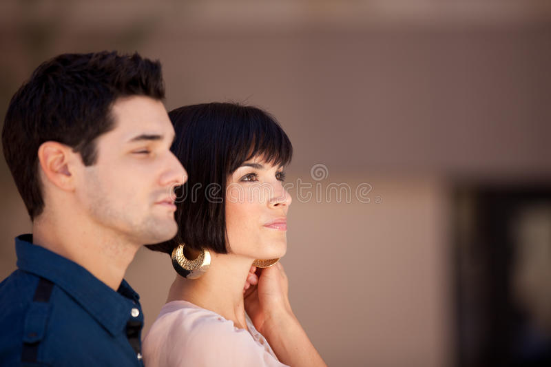 Good Looking Couple In Thought Royalty Free Stock Images