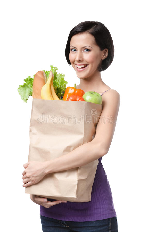 Free Good-looking Girl With Paper Bag Stock Photos - 26181973