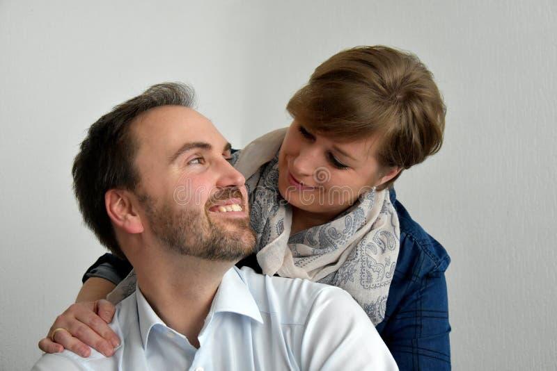 Good looking loving couple royalty free stock photos