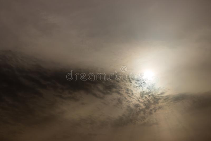 Good looking sky with clouds covered the sun like sand stock photography