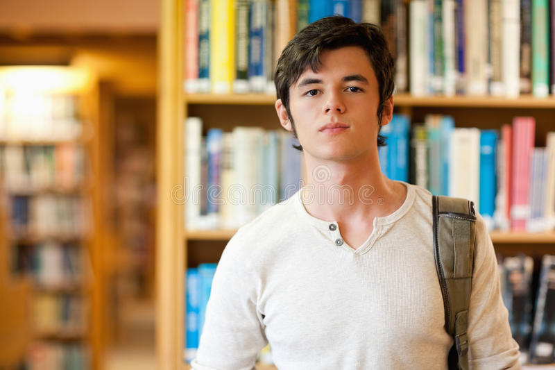 Download Good Looking Student Standing Up Stock Photo - Image: 21147930