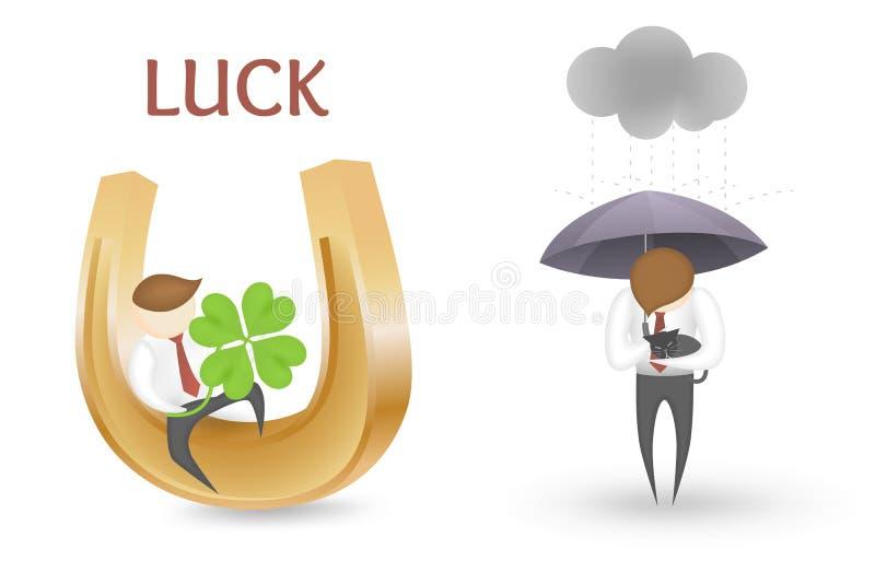 Good luck bad luck royalty free illustration