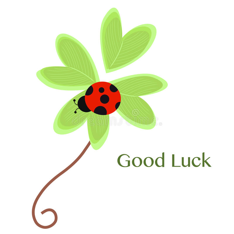 Good luck greeting card with clover and ladybird vector stock vector download good luck greeting card with clover and ladybird vector stock vector illustration of religious m4hsunfo Choice Image