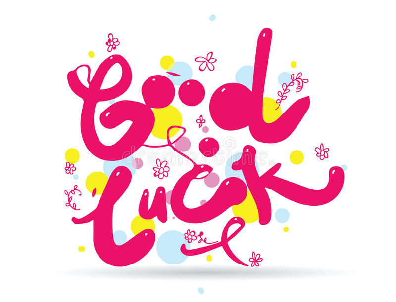 Download Good Luck Phrase For Greeting Cards And Print Elements. Hand  Drawn. Stock Vector  Good Luck Cards To Print