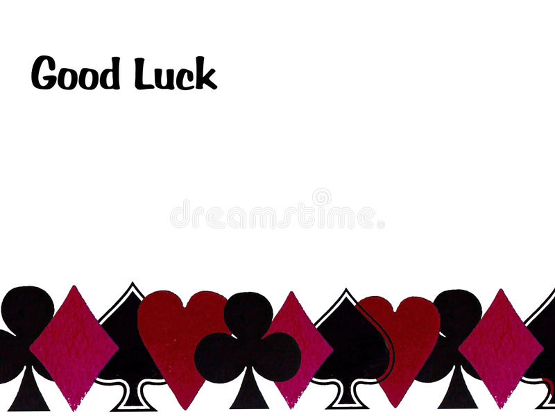 Good luck with playing cards royalty free stock image