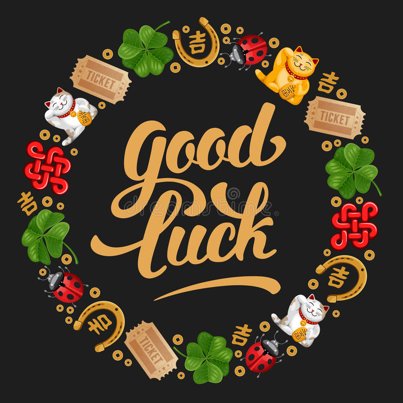 Good Luck stock illustration
