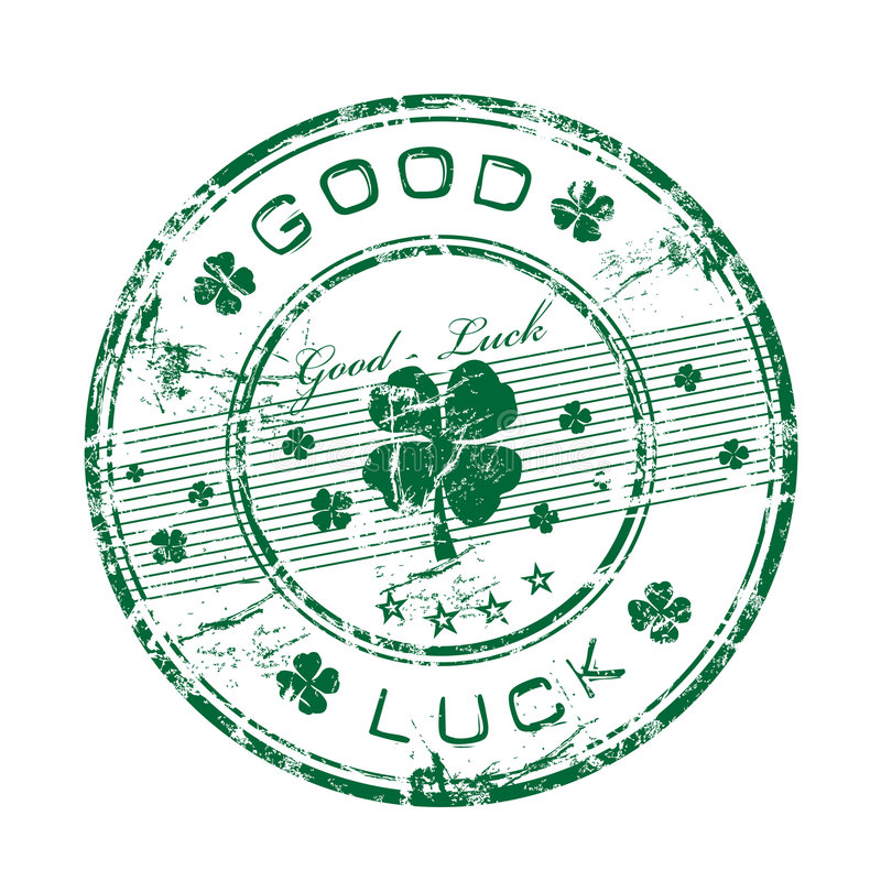 Download Good luck rubber stamp stock vector. Illustration of graphic - 8540486