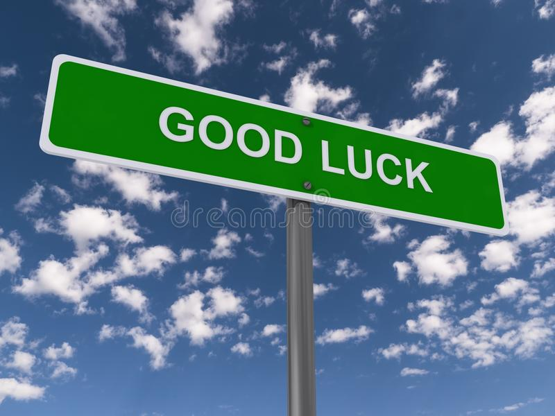 Good luck sign royalty free illustration