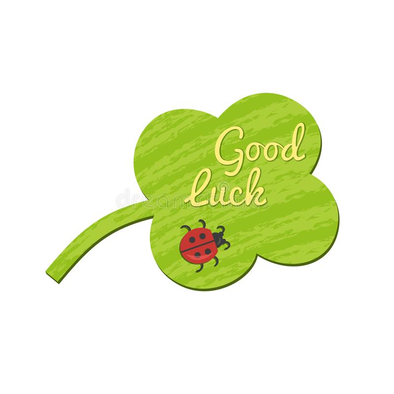 Good Luck wish icon royalty free illustration