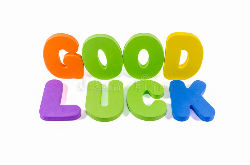 Good luck words colorful royalty free stock photography