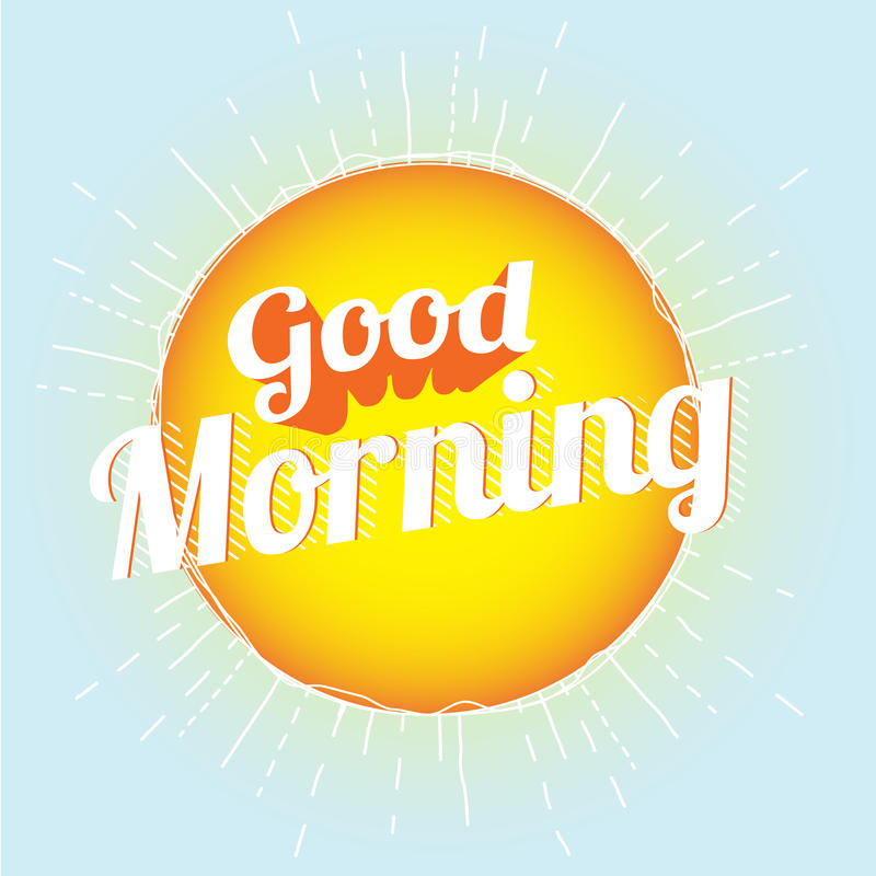 Download Good Morning stock vector. Image of good, card, early - 25831511