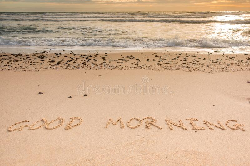 Good Morning at Beach stock photography