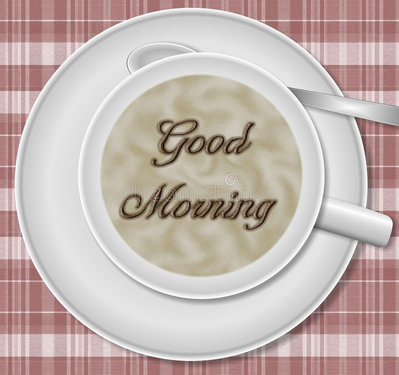 Download Good morning coffee stock illustration. Image of spoon - 19855877