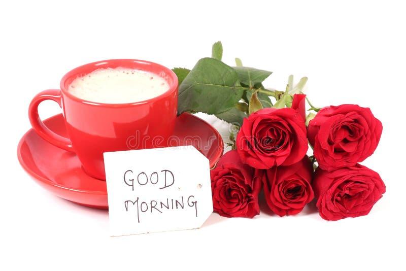Good morning coffee royalty free stock image