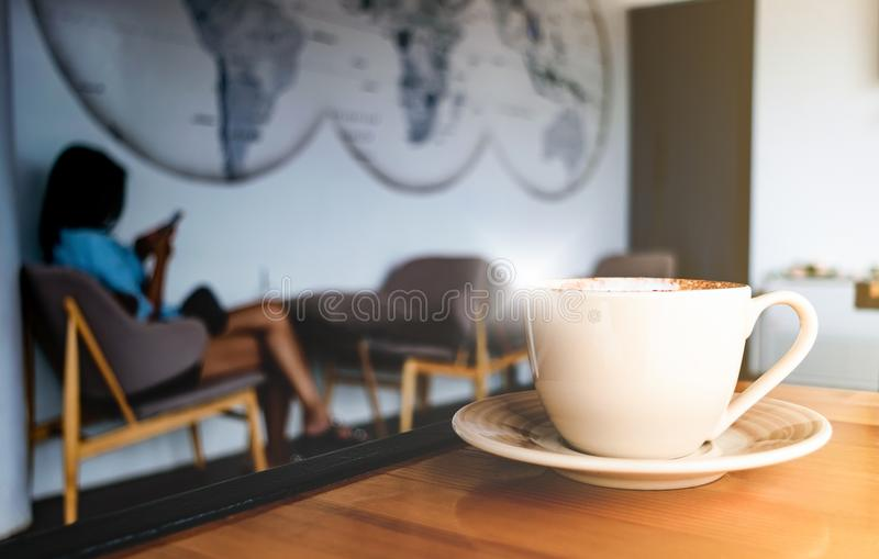 Good morning coffee in cafe.  stock images